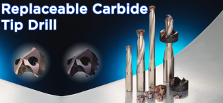 Replaceable Carbide Tip Drill